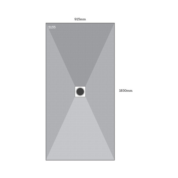 Dukkaboard Centre Drain Shower Tray - 5155