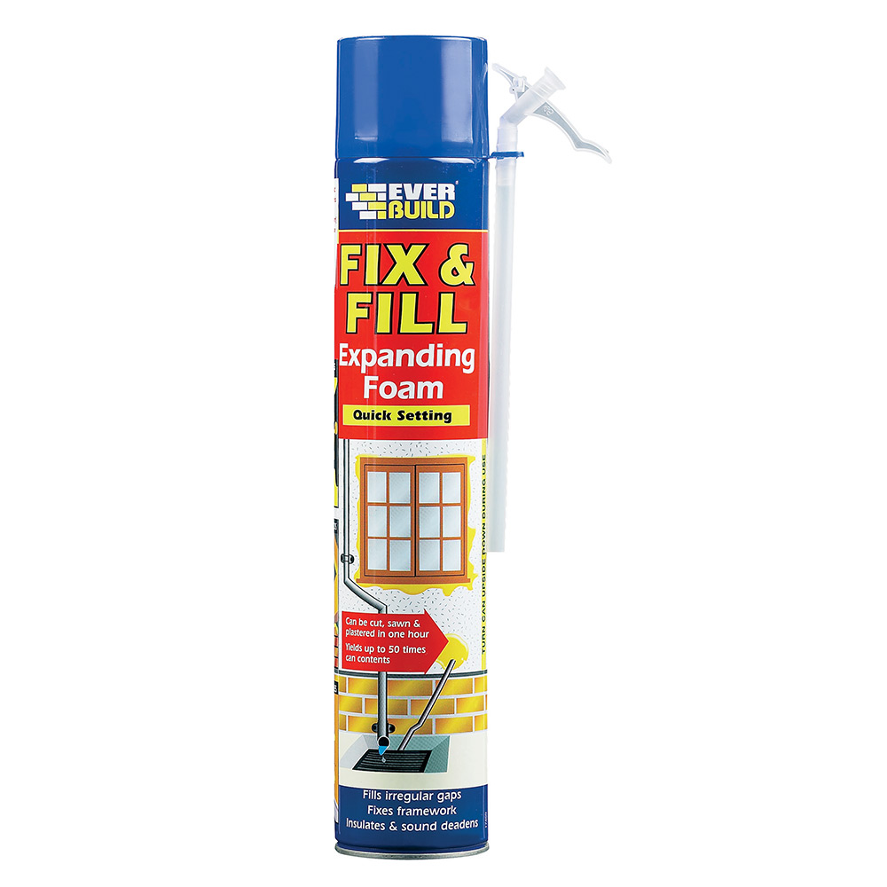 Everbuild Fix And Fill Expanding Foam Tiling Supplies Direct