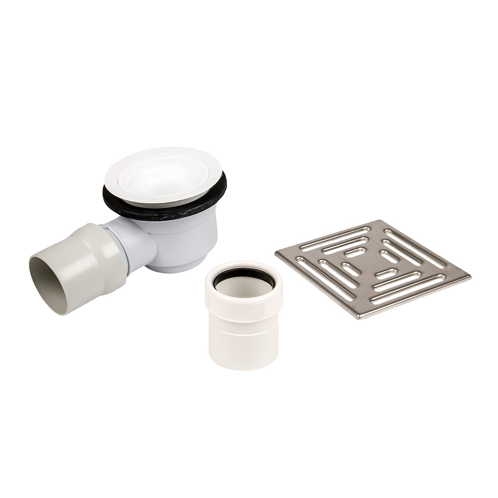 Dukkaboard Shower Drain Kit   Horizontal