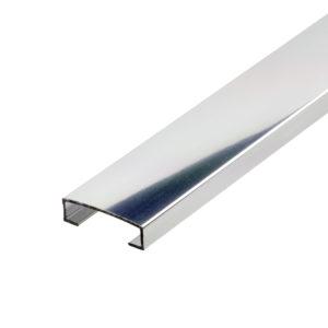 Aluminium Bright Chrome Listello Tile Trim
