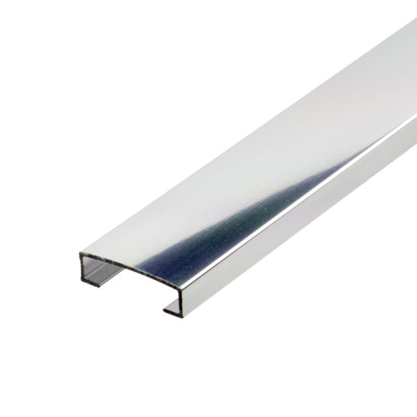 Aluminium Bright Chrome Listello Tile Trim