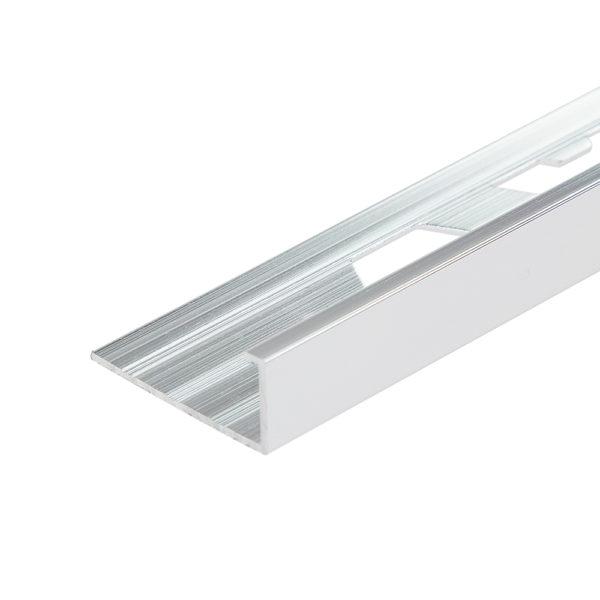 Aluminium Chrome Straight Edge Tile Trim