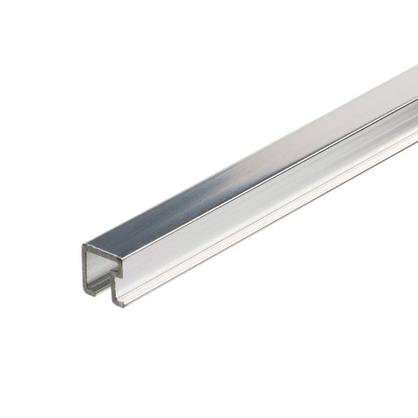 Aluminium Square Listello Tile Trim - Bright Chrome