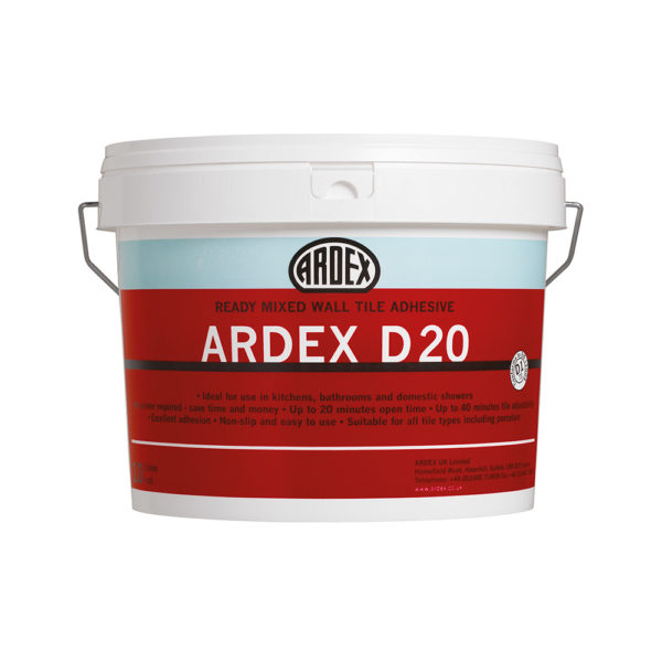 Ardex D20 Wall Tile Adhesive 10 litre