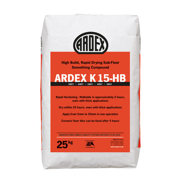 Ardex K15 HB High Build Levelling Compound 25kg
