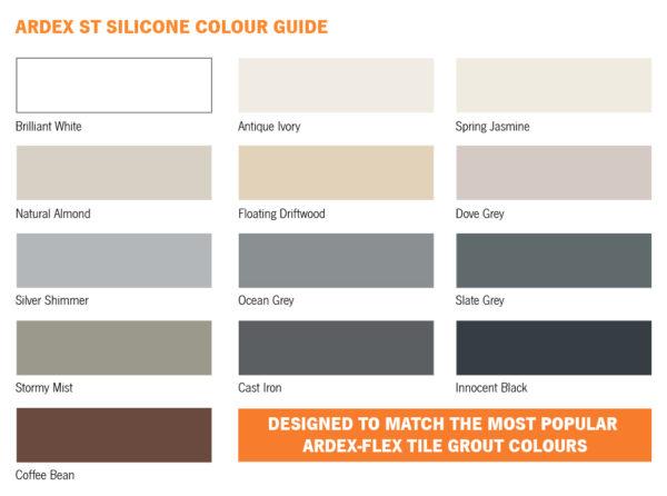 Ardex ST Silicone Colour Guide