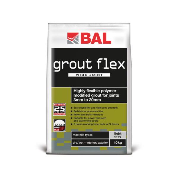 BAL Grout Flex Wide Joint Tile Grout 10kg