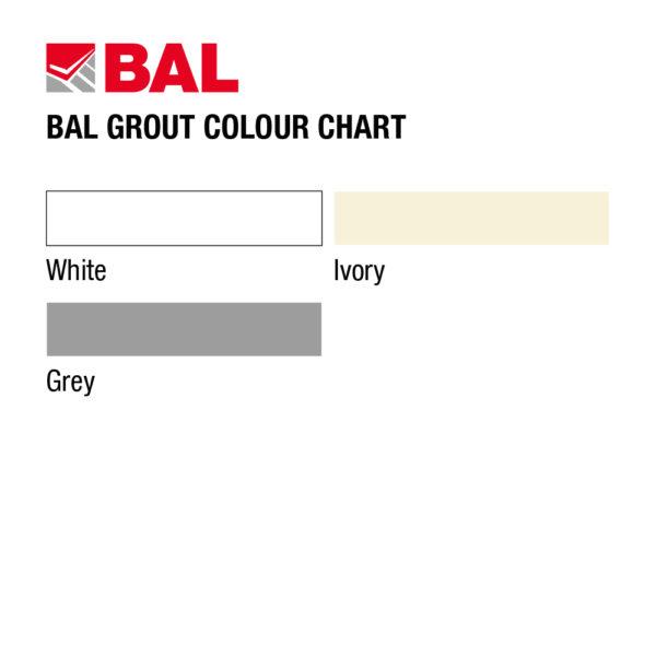 BAL Wall Tile Grout Colour Chart
