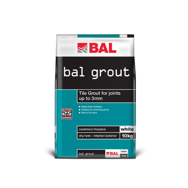 BAL Wall Tile Grout - White 10kg