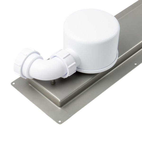 Dukkaboard Channel Drain Trap Kit - Outlet with waste attached
