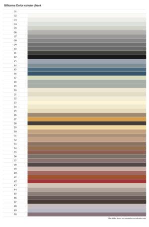Kerakoll Silicone Color - Colour Chart