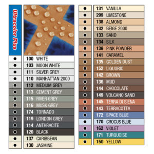 Mapei Ultracolor Plus Tile Grout Colour Chart