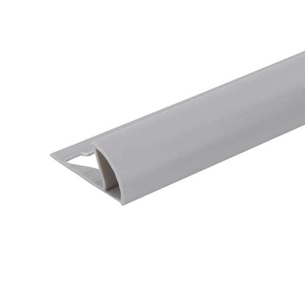 PVC Round Edge Tile Trim - Grey