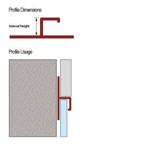 PVC Skirting Altro Flooring Tile Trim - Cross Section