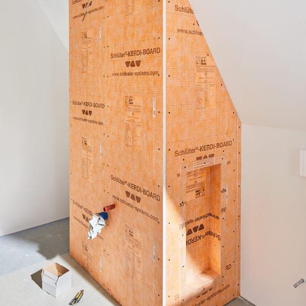 Schluter KERDI BOARD Tile Backer Board - Installation Example