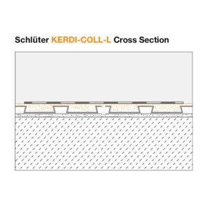 Schluter KERDI COLL L - Cross Section