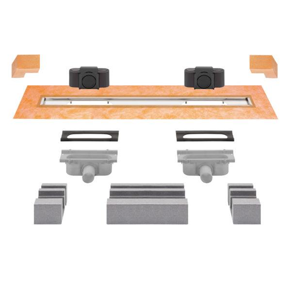 Schluter KERDI LINE G3 Linear Drain - Offset Dual Outlet