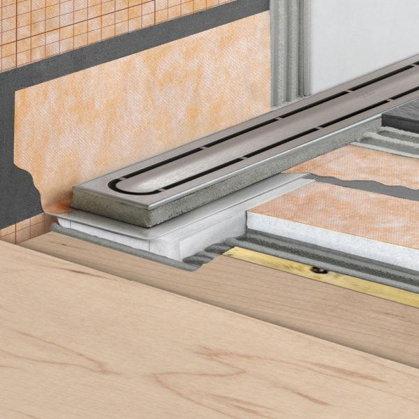Schluter KERDI LINE G3 Linear Drain - Timber Floor Installation