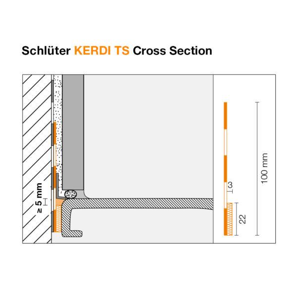 Schluter KERDI TS - Cross Section