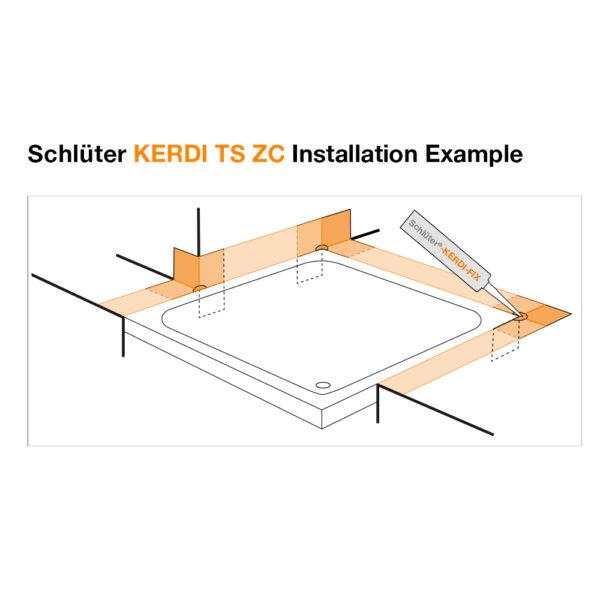 Schluter KERDI TS ZC - Installation Example