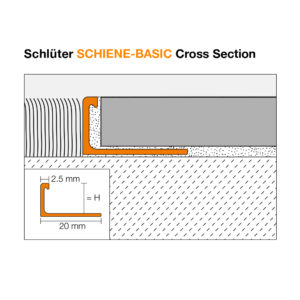 Schluter SCHIENE BASIC Cross Section