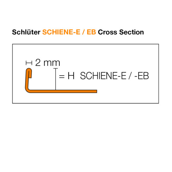 Schluter SCHIENE-E / EB Cross Section