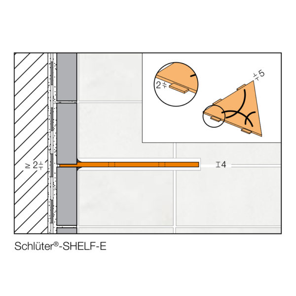 Schluter SHELF E Cross Section