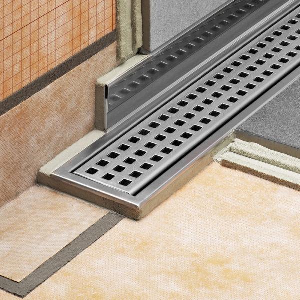 Schluter SHOWERPROFILE R Transition Tile Trim - Installation Example