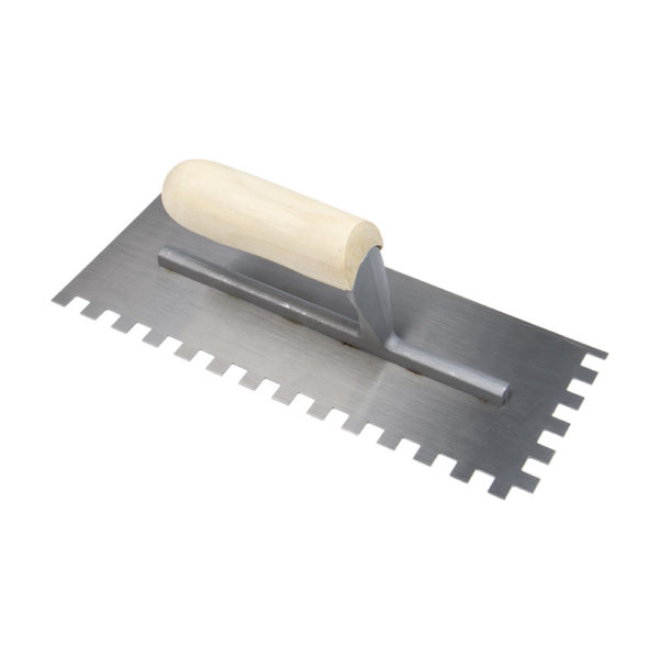 Square Notched Steel Tiling Trowel
