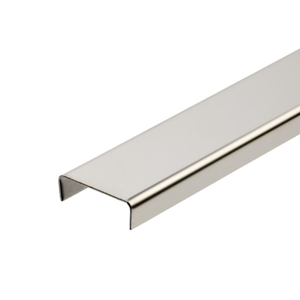 Stainless Steel Listello Tile Trim - Rectangular Polished