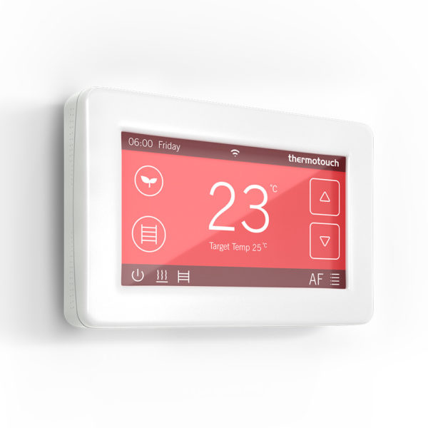 Thermotouch 4.3dC Dual Control WiFi Thermostat - White