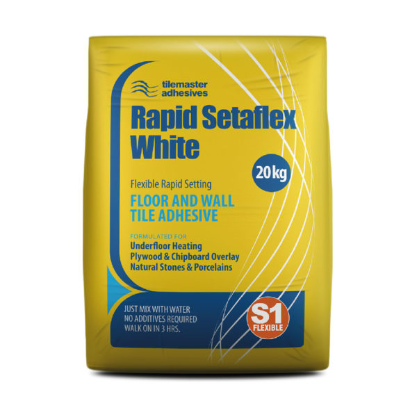 Tilemaster Rapid Setaflex Tile Adhesive - White