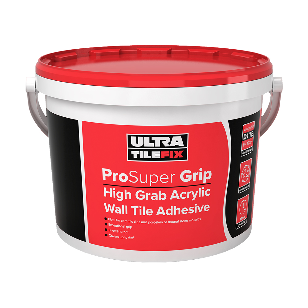Ultra tile fix prosuper grip wall tile adhesive 15kg tiling ultra tile fix prosuper grip wall tile adhesive 15kg dailygadgetfo Choice Image