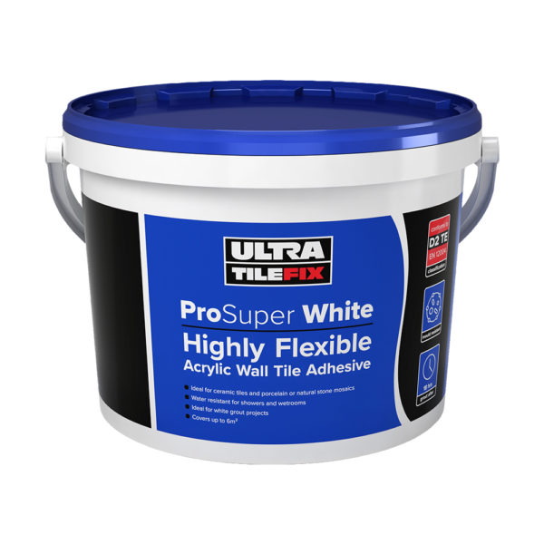 Ultra Tile Fix ProSuper White Wall Tile Adhesive 15kg