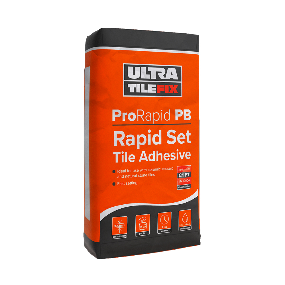 Ultra Tile Fix Prorapid Pb Tile Adhesive Tiling Supplies Direct