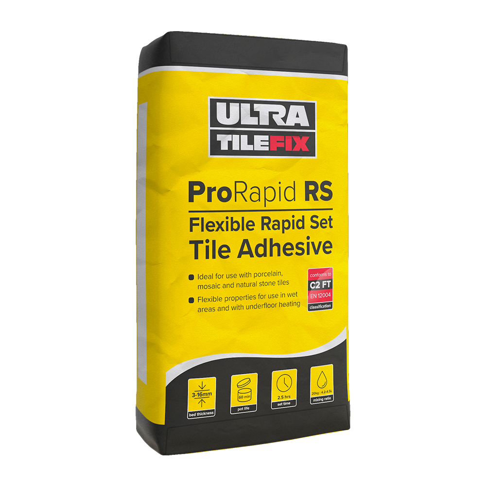 Fixing Tiles Adhesive : Ultra tile fix prorapid rs adhesive tiling supplies
