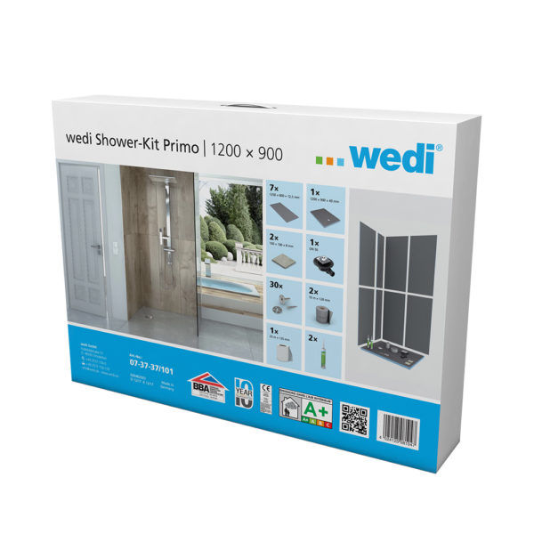 wedi Fundo Primo Shower Kit - 1200 x 900mm