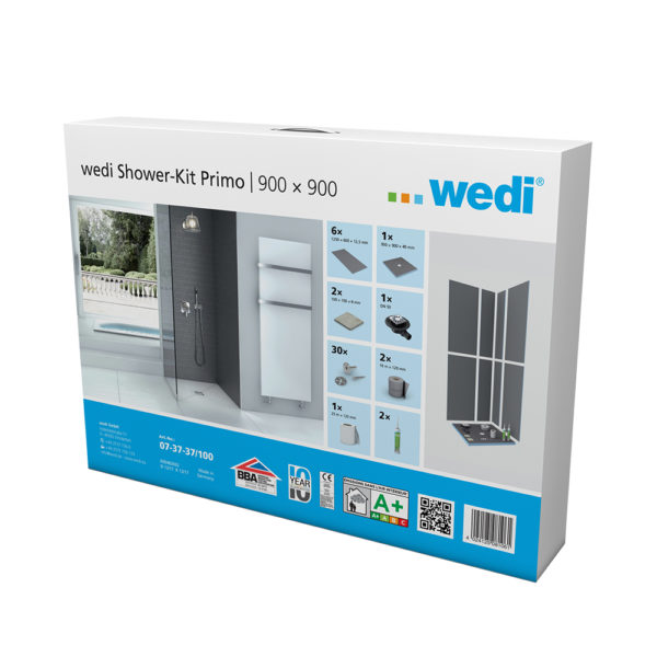 wedi Fundo Primo Shower Kit - 900 x 900mm